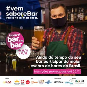 Inscrições para o Festival Bar em Bar são prorrogadas até o dia 20