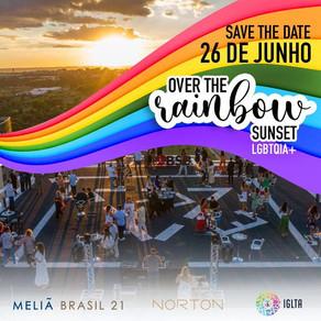 Dia do orgulho LGBTQIA+: Brasil 21 promove OVER THE RAINBOW – SUNSET – no heliponto