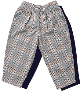 Toddler Woven Unisex Plaid Pants - Brown