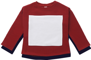 Long Sleeve Terry Fleece Top - 8x9_ Squa