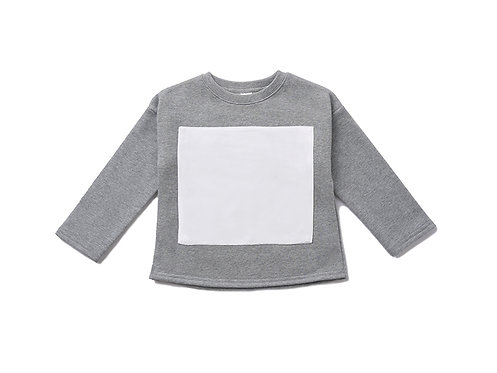 Long Sleeve Fleece Top - Grey