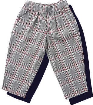 Toddler Woven Unisex Plaid Pants - Maroo