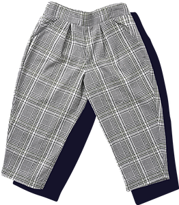 Toddler Woven Unisex Plaid Pants - Green