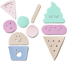 OKIDZO ICE CREAM PUZZLE SET