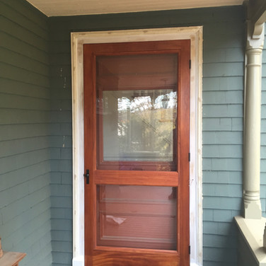 Sapele screen door
