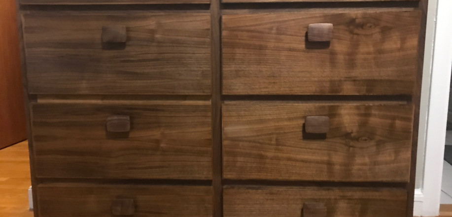 Custom walnut dresser