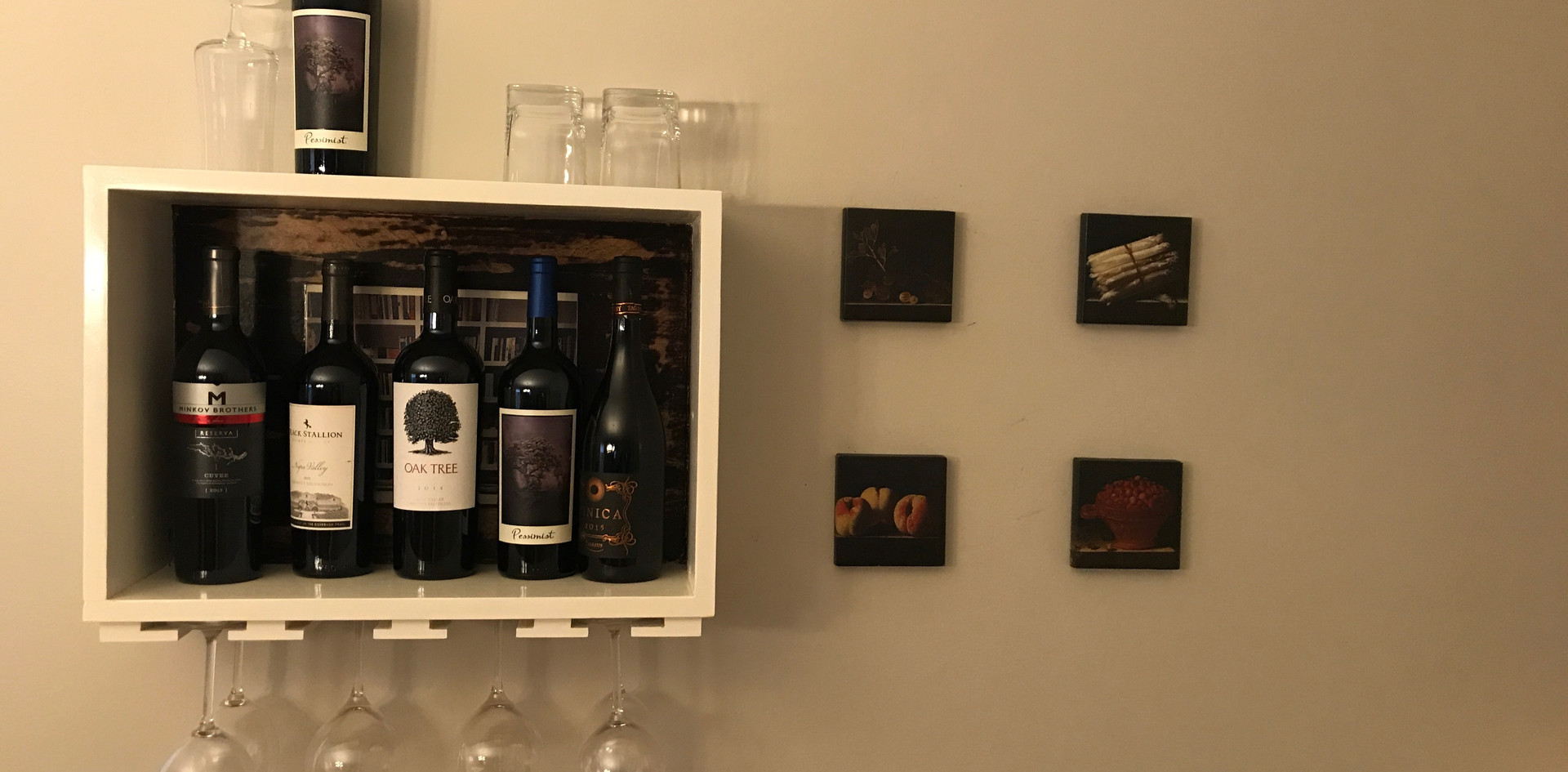 Custom wine shelf