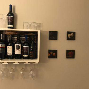 Custom wine shelf