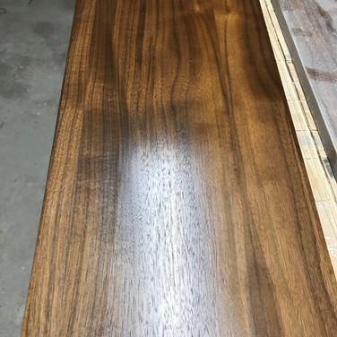 Walnut drawer fronts