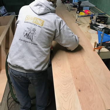 In the making of a cherry countertop
