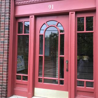 Restoration of exterior doors in Brookline
