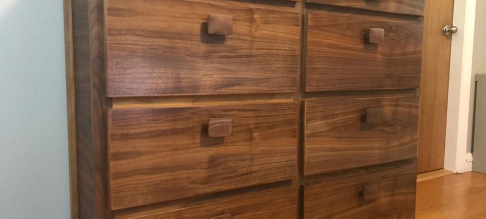 Contemporary walnut dresser