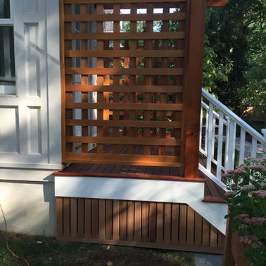 Red cedar pergola side view