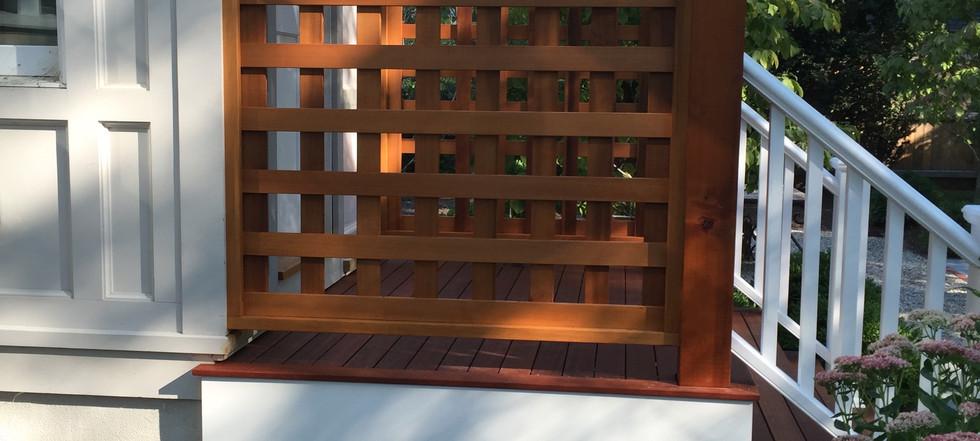 Red cedar pergola side view