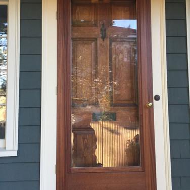 restoration of a historic doors in west roxbury