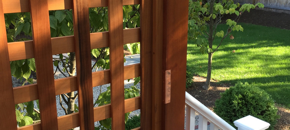 Pergola with railings