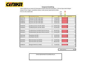 Beräkningsprogram Komponent