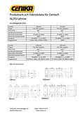 Produktark och Tekniskdata för Centech AL/CU-plintar