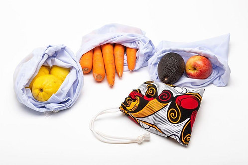 African Fabric Produce Bags