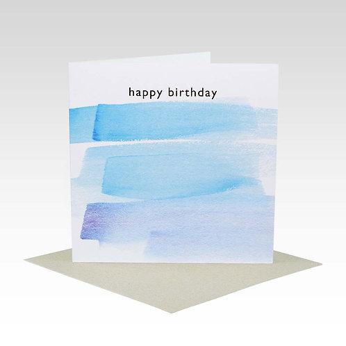 Card - Happy Birthday Blue