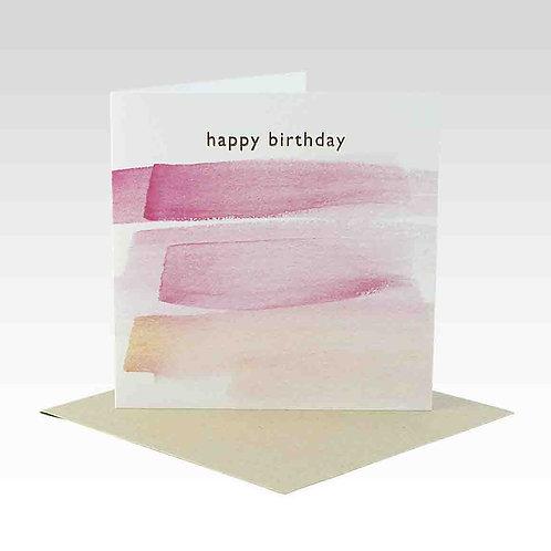 Card - Happy Birthday Pink