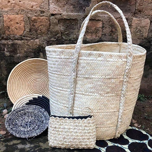 Woven Palm Leaf Shopping Bag