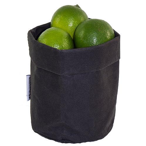 Washable Black Paper Basket - Medium