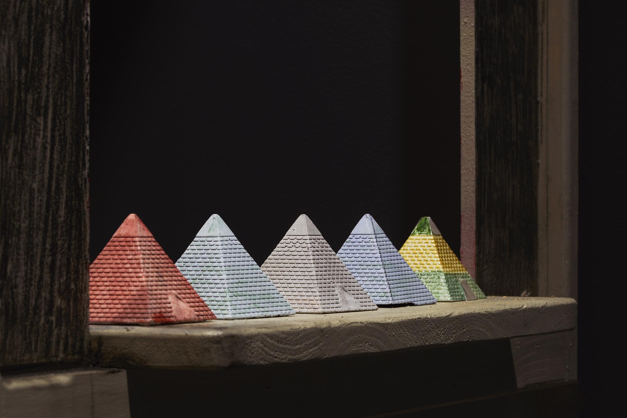 Mashrabiya with Pyramids