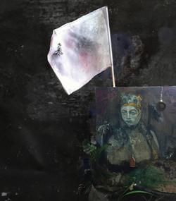 Uta with white flag in Hili Land