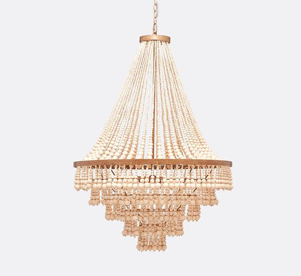 beaded cascade chandelier