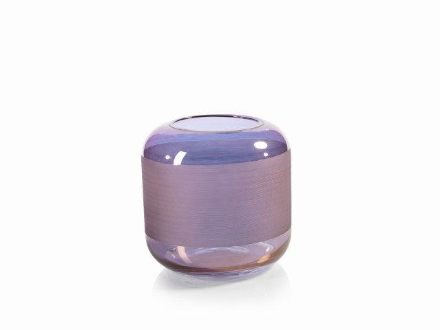lustrous copper glass vase