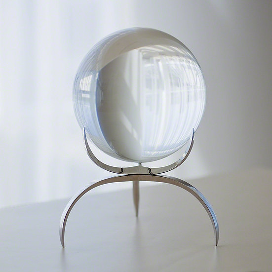 crystal sphere with clutch stand