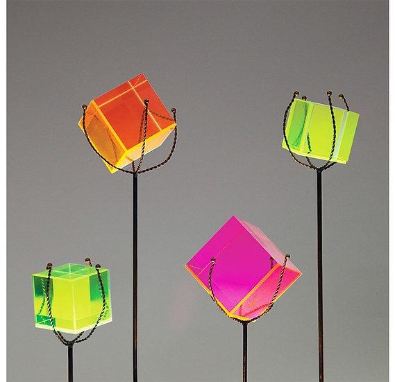 neon acrylic cubes