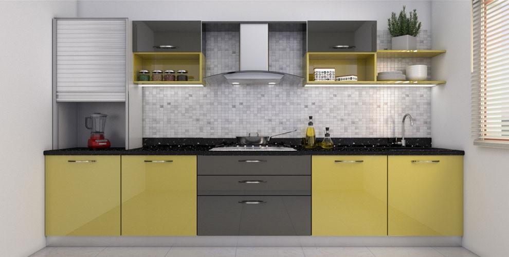 Straight-Shaped Modular Kitchen Pop Blast
