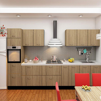 Modular Kitchen Wooden Finish