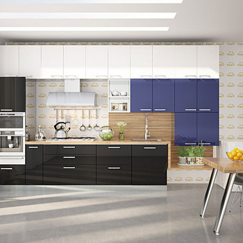 Straight-Shaped Modular Kitchen French Themed