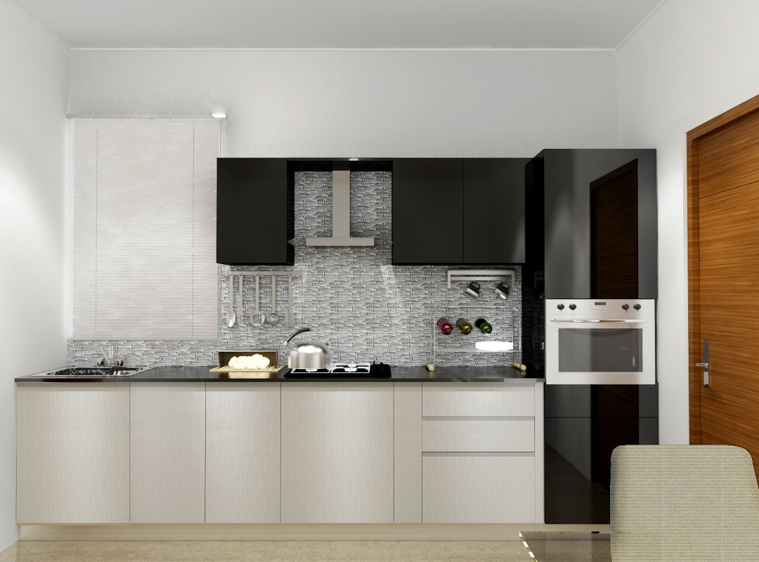 Straight-Shaped Modular Kitchen Neutral Tones
