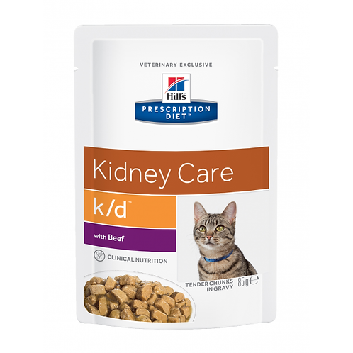 HILL'S PRESCRIPTION DIET - FELINE K/D BEEF ANNOSPUSSIT 85 G
