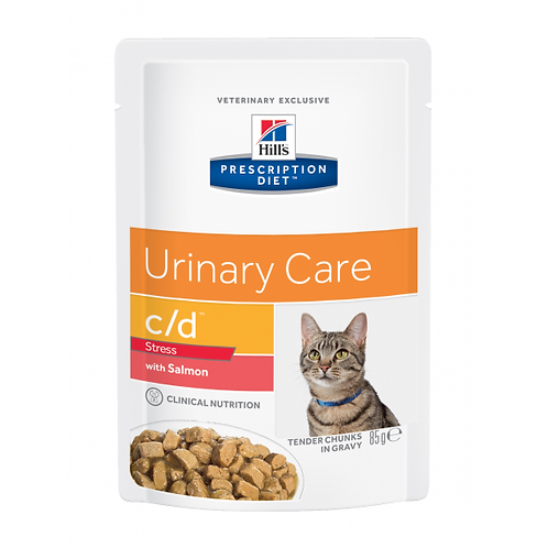HILL'S PRESCRIPTION DIET FELINE C/D URINARY STRESS SALMON ANNOSPUSSIT 1
