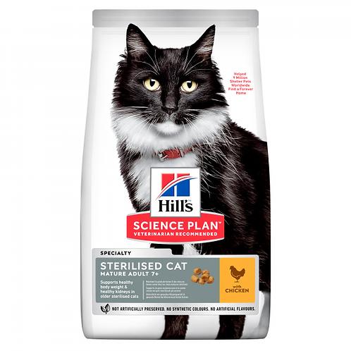 HILL'S SCIENCE PLAN - MATURE STERILISED CAT KISSAN KUIVARUOKA, KANA