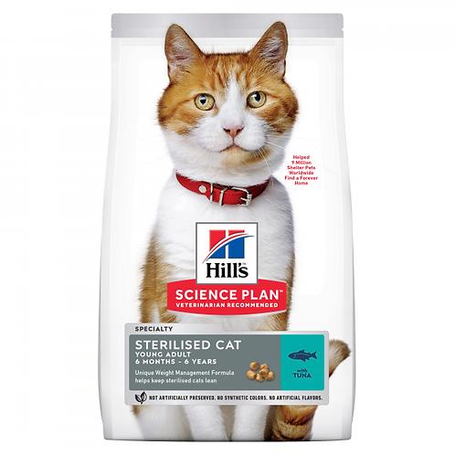 HILL'S SCIENCE PLAN - STERILISED CAT AIKUISEN KISSAN KUIVARUOKA,TONNIKALA