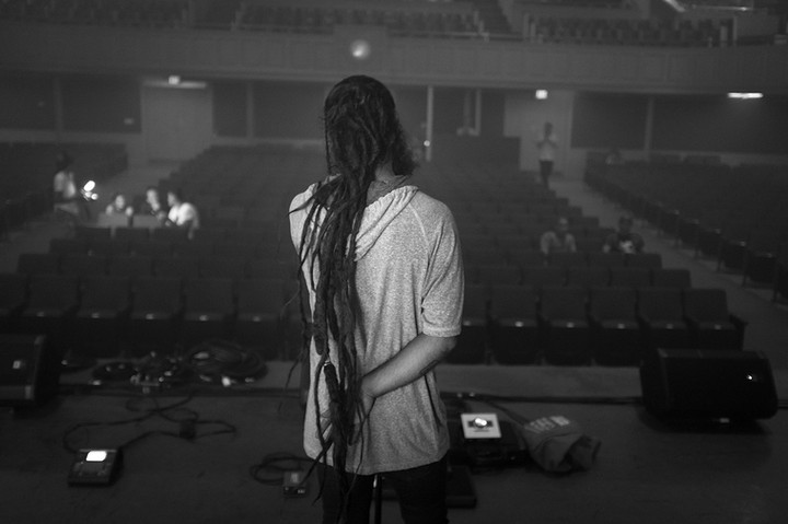 David D Omni beim Soundcheck