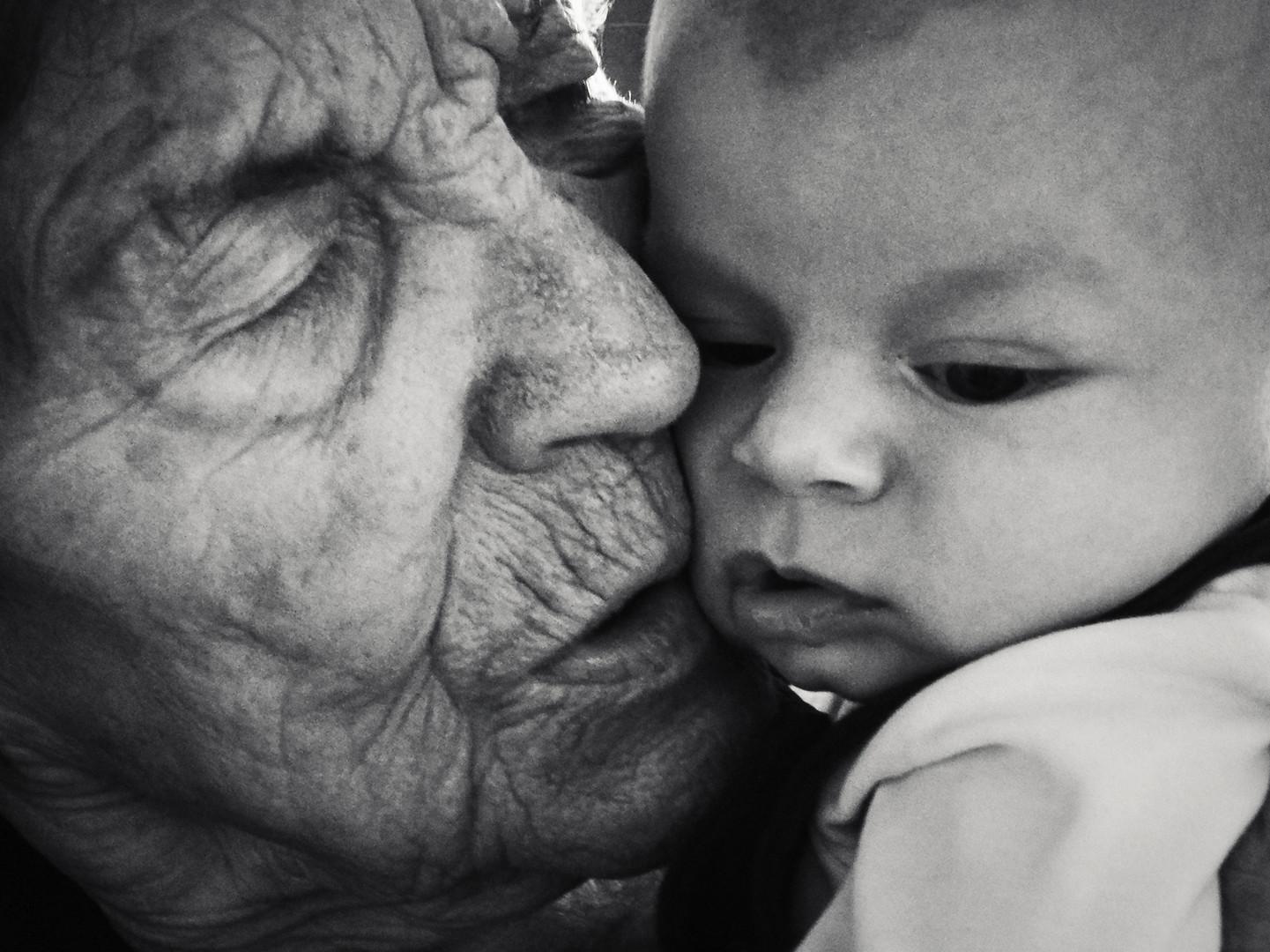 Urgrossmutter & Urenkel