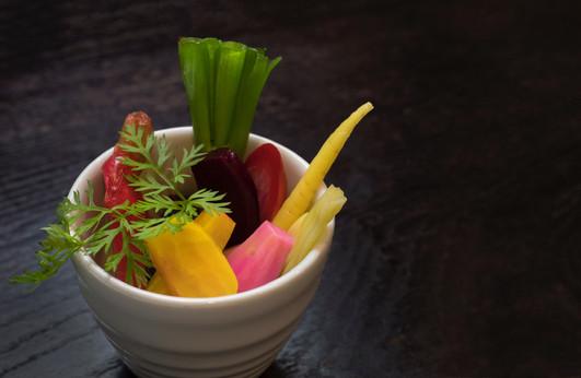 pickled vegetable crudites