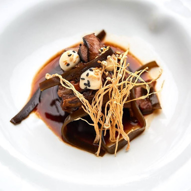 slow short rib / shitake / black garlic / miso