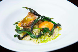 potato risotto / wild garlic / confit yolk