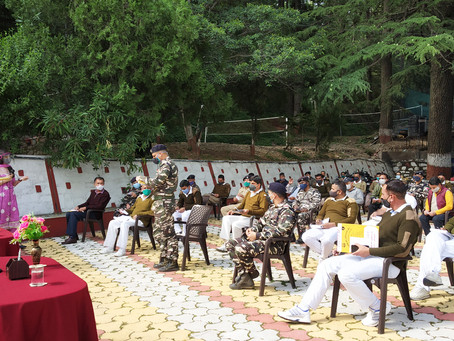 Session on 'Mental Health and Self-care during COVID-19' at the SSB Medics Training Center, Shimla