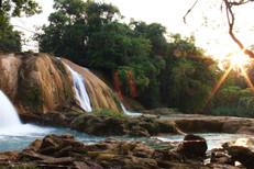 Cascadas de Agua Azul in Chiapas