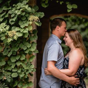 Cassie + Andrew's Engagement Session at Olbrich Gardens & Lake Kegonsa