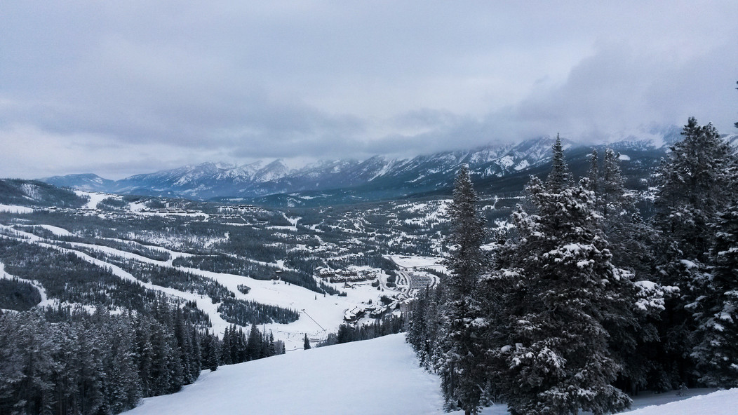 Views from the trail at Big Sky, Montana